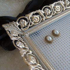 Earring Holder Jewelry Organizer plastic canvas and a frame... so DIY (great Christmas gift)
