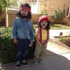 Cheech and Chong at an early age!!