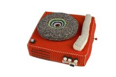 anne-claire crocheted record player