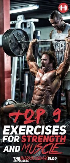 Check out The Top 9 Exercises for Strength and Muscle! #fitness #gym #exercise #exercises #muscle #strength