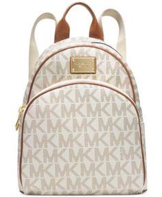 79fa8095ff84 MICHAEL Michael Kors Signature Small Backpack   Reviews - Handbags    Accessories - Macy s