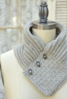Looking for knitting project inspiration? Check out Quilted Lattice Ascot by member Pam Powers Knits. - via @Craftsy