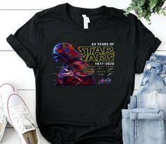 Vader Star Wars 43 Rd Anniversary 43 Years Of T Shirt star wars t-shirt top shirt star wars t-shirt tee top shirt Mom And Daughter Matching, Vader Star Wars, Star Wars Tshirt, Great Lengths, Photo Lighting, Cheap T Shirts, Happy Shopping, Tee Shirts, Anniversary