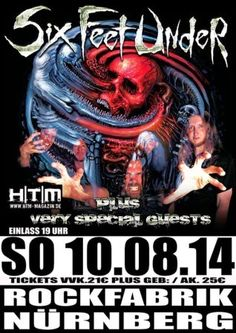 New-Metal-Media der Blog: Der New-Metal-Media Eventtipp: Six Feet Under in der Rockfabrik in Nürnberg #news #metal #concert