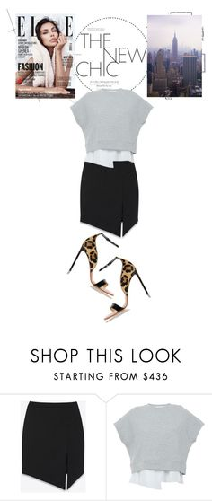 """""""Carine"""" by loeswhite ❤ liked on Polyvore featuring Yves Saint Laurent, 10 Crosby Derek Lam and Francesco Russo"""