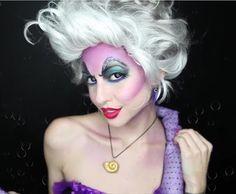 ursula makeup - fade purple around forehead & checks Little Mermaid Makeup, Little Mermaid Costumes, The Little Mermaid, Ursula Makeup, Ursula Wig, Ursula Costume Diy, Halloween Make Up, Halloween Cosplay, Halloween Ideas