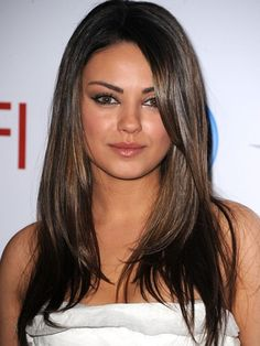 Mila Kunis gives us major hair inspiration! Check out our other layered styles too http://www.ivillage.com/layered-haircuts-and-layered-hairstyles/5-b-346635#346657