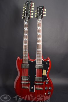 Gibson Custom / 2015 Limited Run Mid 60s EDS-1275 Double Neck Heritage Cherry S/N:CS500715 Gibson Sg, Guitar Collection, Music Guitar, Double Trouble, Electric Guitars, Press Release, Led Zeppelin, David Bowie, Rock Music