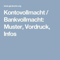 kontovollmacht bankvollmacht muster vordruck infos - Bankvollmacht Muster