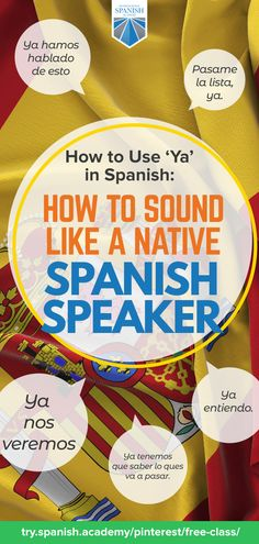 The little word ya in Spanish takes up a big place in the language! Spanish Phrases, Spanish Words, Learn Spanish Free, Spanish Conversation, Spanish Online, Spanish Worksheets, Social Media Detox, Weird Words, Single Words