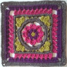 The Kalevala CAL is a blanket project where each participant can crochet their own Kalevala inspired blanket. square patterns, joining and the border, several languages. Crochet Square Patterns, Crochet Stitches Patterns, Crochet Squares, Crochet Granny, Stitch Patterns, Knit Crochet, Crochet Ideas, Ravelry, Granny Square Blanket