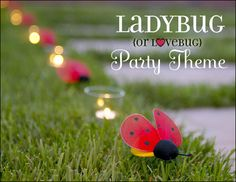 Ladybug Party Theme Ideas - good ideas in the comments section, too.