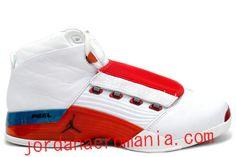 8f823cf944974 Acheter Chaussures Air Jordan 17 Original Blanc Varsity Rouge Charcoal