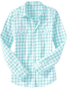 Women lightweight camp shirt | Gingham Love... | Pinterest ...