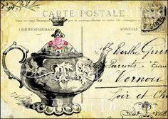 Vintage tea party invite