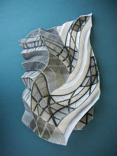 Flamma Crispata - XXX IV MMVIII. Paper sculpture by Andrea Russo.
