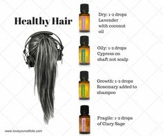 There are so many essential oils that you can use for healthy hair- check these out from Love Yourself Oils