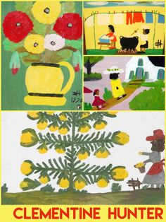 Clementine Hunter Clementine Hunter, Elementary Art, Montessori, Amazing Art, Art For Kids, Illustrator, Kids Rugs, Artists, Teaching
