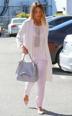 Whimsical Whites from Jessica Alba's Street Style | E! Online