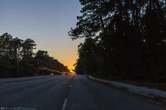 Sun Setting Down US 17  #Sunset #SouthCarolina #HorryCounty #MyrtleBeach #US17 #RT17 #17 #Highway #Road #Car #Cars #Tree #Trees #Skyline