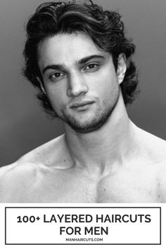 If you have thick or slightly wavy hair, layered haircuts for men are incredibly cool options that will create a beautiful pattern around the back and keep your hair tidy by tucking it behind the ear.  #layeredhairstylesformen #menlayeredhairstyles #menwavyhairstyles #menhairstyles #manhaircuts Mens Wavy Hairstyles Short, Boys Haircuts Long Hair, Medium Length Mens Haircuts, Medium Length Wavy Hair, Medium Length Hair Cuts With Layers, Thick Hair Styles Medium, Haircuts For Wavy Hair, Medium Long Hair, Haircuts For Men