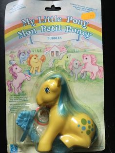 My Little Pony G1 Italian Bubbles MOC French Card