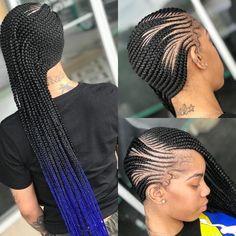 Posh Beauty Bar braids by Braids! Posh Beauty Bar braids by Box Braids Hairstyles, Lemonade Braids Hairstyles, Braids Hairstyles Pictures, Protective Hairstyles, Hair Pictures, Hairdos, Protective Styles, Black Girl Braids, Braids For Black Hair