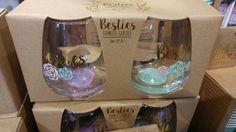 Besties wine glasses. Francescas.