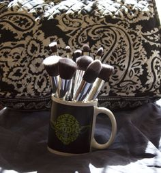 My new make up brushes  They are actually amazing and the whole set was only 16$ I use them every day and they were free shipping they are by Jessup I got them off aliexpress