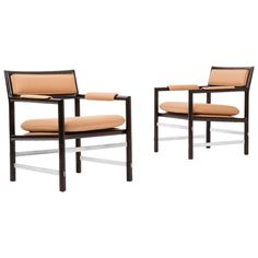 Pair of Edward Wormley Armchairs For Sale at 1stdibs Georgian Furniture, Modern Furniture, Furniture Design, Leather Dining Room Chairs, Dining Arm Chair, Armchairs For Sale, Edward Wormley, Baker Furniture, Extension Dining Table