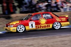 Trakstar, Ford Sierra Sapphire Cosworth. 1991 BTCC Mustang Cobra, Ford Mustang, Gt Cars, Race Cars, Touring, Ford Rs, Ford Sierra, Racing Team, Impreza