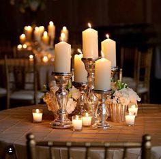 Candles can make a beautiful wedding centerpiece