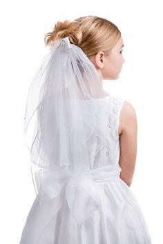 white 1st communion veil from CatholicSupply.com