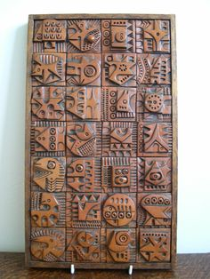 Midcentury modern Ron Hitchins Hitchens ceramic wall panel 1960s Picasso style   eBay