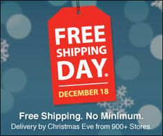 FREE Shipping Day on 12/18 on http://hunt4freebies.com/coupons
