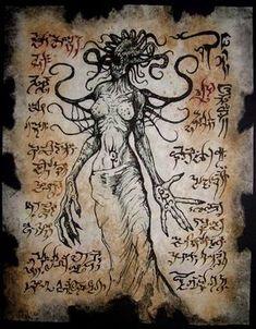 LOVECRAFT / Necronomicon / Gods #handmadebeltsnatural