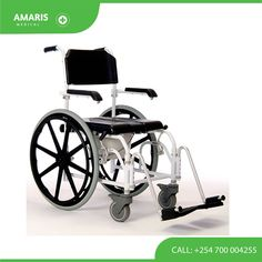 This high quality Self Propelled Shower Commode Chair can be deployed as a commode, a shower wheelchair or rolled over a standard toilet pedestal. It is robust and comes equipped with a commode pan. Contact us +254700004255 #wheelchairs #orthopedic #medicalequipment Shower Commode Chair, Shower Wheelchair, Wheelchairs, Medical Equipment, Pedestal, Baby Strollers, Toilet, Baby Prams, Flush Toilet