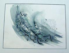 Riet van Loocke - India 1  www.kalligrafie.nl galerie textase