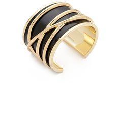 Belle Noel Enameled Thread Cuff ($59) ❤ liked on Polyvore featuring jewelry, bracelets, cuff jewelry, cuff bangle, enamel bangle, belle noel by kim kardashian and enamel jewelry