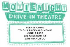free printable backyard movie night invitations
