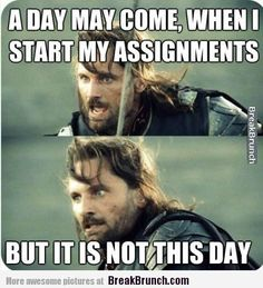 For all my procrastinating friends...