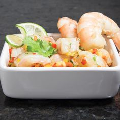 If you love seafood then this Pineapple and Shrimp Ceviche Recipe is definitely for you. Loaded with tropical pineapple flavors and and a bit of spice, this ceviche is the perfect appetizer to any meal!  [edamam-recipe-recipe:69]