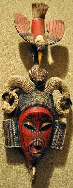 African spirit mask  #African #Art #ShermanFinancialGroup