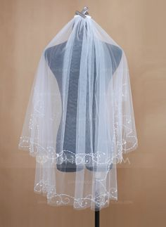 Wedding Veils - $19.99 - Two-tier Elbow Bridal Veils With Cut Edge (006034199) http://jjshouse.com/Two-Tier-Elbow-Bridal-Veils-With-Cut-Edge-006034199-g34199?ver=1