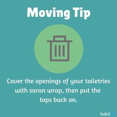 """This will keep your toiletries from breaking and leaking all over your stuff during the move. #Moving #Packing"""