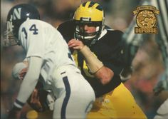 Mike Boren. Photo by Barry Rankin, from 1998 Michigan Wolverines Football Calendar, by The Victors Club