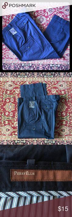 Navy Dress Cargo Pants Perry Ellis Dress Navy Cargo Pants NWOT. In Great Condition. Perry Ellis Pants Cargo