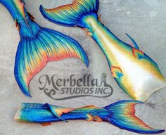 Merbella studios inc - rainbow silicone mermaid tail Mermaid Swim Tail, Mermaid Man, Mermaid Swimsuit, Mermaid Melody, Fantasy Mermaids, Mermaids And Mermen, Merman Tails, Realistic Mermaid Tails, Real Life Mermaids