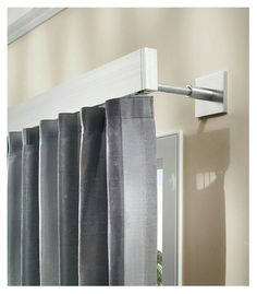 Window treatments curtain poles and tie backs for Tende coprenti ikea