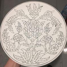 Islamic Art Pattern, Pattern Art, Turkish Art, Traditional Paintings, Ceramic Painting, Textiles, Line Art, Art Drawings, Decorative Plates